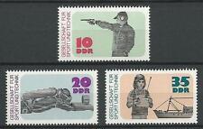 DDR Mi.Nr. 2220-2222** (1977) postfrisch/Gesellschaft f. Sport und Technik (GST)