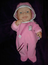 "DOLLS HOODED ONESIE ,Berenguer,Bandai Star,14-16"" Dolls,Stocking Filler,Gift,Box"