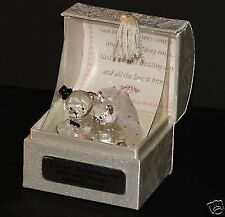 40th ruby Wedding anniversary crystal glass wedding bears in poem box gift