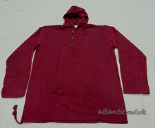 K606 L Cotton unisex long sleeve Maroon Homemade plain Hoodie Gift men Shirt