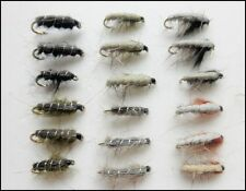 18 Czech Nymph & Semtex Nymph Trout or Grayling Fishing Flies, Mixed Sizes 10/12