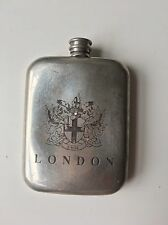 COLLECTABLE VINTAGE ENGLISH PEWTER MADE IN SHEFFIELD ENGLAND 6 OZ HIP FLASK