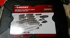 Husky 100 piece 1/4 in and 3/8 in Drive Mechanics Tool Set - 1001 642 419