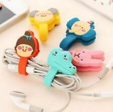 FD5208 Cartoon Snap Mobile Phone Headphones Cable Winder For Iphone 6 7 7p 1pc