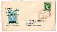 Australia 1955 South Australia Stamp Centenary FDC Anpex Cancel X3963