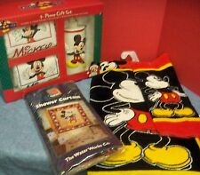 New Mickey Mouse Bath Accessory Set Towels Vinyl Shower Curtain Soap Dispenser