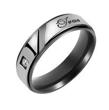 "Stainless Steel "" True Love "" Couple Band Engagement Ring Wedding Gift-US 10"