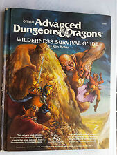 wilderness survival guide 1E AD&D hardcover fantasy RPG roleplaying book tsr