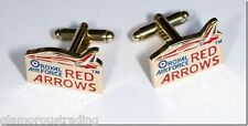 OFFICIAL ROYAL AIR FORCE RED ARROWS GOLD PLATED CUFFLINKS