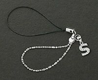 Letter S Crystals Cell Phone Charm For Mobile Phone New