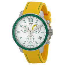 Tissot Quickster Chronograph Soccer World Cup 2014 White Dial Yellow Silicone