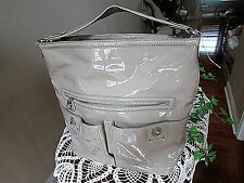 Marc By Marc Jacobs xlarge tan  Patent Leather Totally Turnlock Faridah Handbag