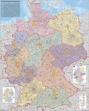 Postleitzahlenkarte Deutschland 97x137cm #010110