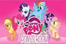 12x18 Personalized My little Pony Room Door Poster Pink Background