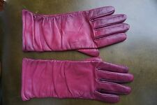 Neiman Marcus L Large women leather gloves orchid pink ombre Nordstrom winter