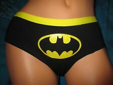 nwt Batman Batgirl Bat Signal Super Hero DC Comics  Yellow Hipster Panties XL