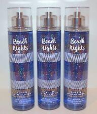 3 BATH & BODY WORKS BEACH NIGHTS SUMMER MARSHMALLOW FINE FRAGRANCE MIST SPRAY