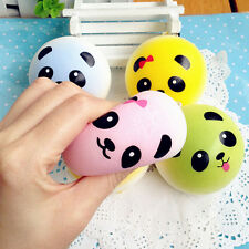 Stylish Panda Squishy Charms Buns Cell Phone Key Chain Bread Strap Creative Toy