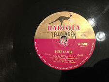 "GITTA LIND (German) ""C'Est Si Bon""/ ""How Deep Is The Ocean"" 78rpm 10"" c1951 G+"
