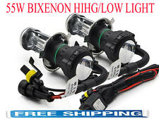 2x H4 55W HID BI-XENON Bulb Lamp Light Kit Headlight H13 9007 Hi/Low Light 6000K