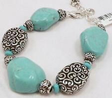 Brighton FULL MOON RISING Turquoise Stone Beaded Chunky Bracelet NEW!