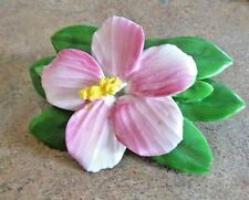 "Vintage Adderley Bone China England Hibiscus Pin  Brooche 2 1/8""long"