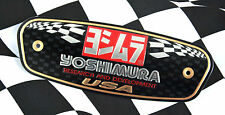 Yoshimura R&D Aluminium Metal Plate Exhaust Decal Emblem Motocross Muffler label