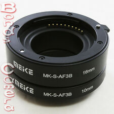 Meike Auto Focus Macro Extension Tube 10mm 16mm for Sony E mount NEX-5 6 7 5R 3N