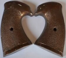 Colt police positive special pistol grips dark brown plastic with screw