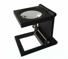 Promotion! 8X Metal Folding Linen Tester Cloth Magnifier Loupe w/ Scale TH9005C