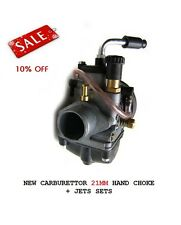 NEW UNIVERSAL CARBURETTOR 21MM HAND CHOKE + 6 JETS MOPED SCOOTER MOTORCYCLE