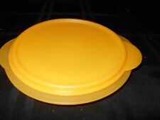TUPPERWARE ORANGE FLAT OUT BOWL WITH SEAL
