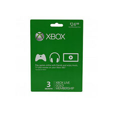 Xbox Live 3 Month Subscription Card (Physical Card)