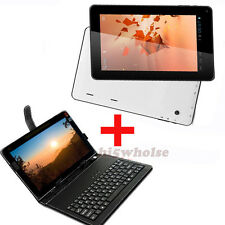 "16GB 10.1""Android OS Quad Core Touch Screen Tablet PC WIFI HDMI W 10"" Keyboard"