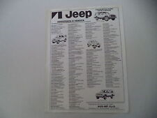 advertising Pubblicità 1985 JEEP CHEROKEE CHIEF/LAREDO/CJ7 CJ 7 LAREDO
