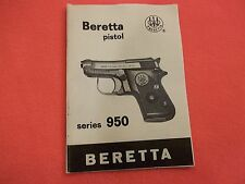 BERETTA PISTOL MODEL 950 BS CALIBER .22 short/.25 ACP AUTO OWNERS MANUAL