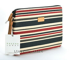 "Greene + Gray Canvas Sleeve Case Cover for MacBook Air 11"" w/Retina Stripe Used"