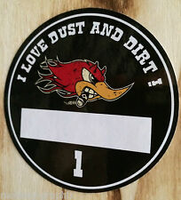 """Feinstaubplakette Sticker """"Horsepower Dust"""" Umweltplakette Umweltzone Aufkleber"""