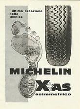 W0519 Pneumatico Michelin Xas asimmetrico - Pubblicità 1967 - Advertising