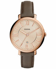 Fossil Women's ES3707 Jacqueline Rose Gold Dial Brown Leather Watch