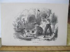 Vintage Print,PIONEER BEGINNING,100 Years Progress,L.Stebbin,1870