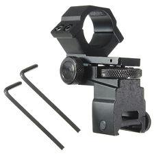 25.4mm Tactical Sight Flashlight Rifle Scope Mount Adjustable Elevation Windage