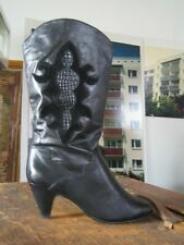 Damenstiefel Stiefel Boots black schwarz slouch Rocker 80er TRUE VINTAGE 80´s