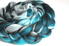 Merino Wool & Silk Blend Fibre Combed Top 100g Spearmint Spinning Felting