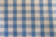 Blue Gingham fabricpolycotton 115cm wide jar covers jam making: Price per metre