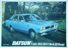 Datsun Violeta 140J/160J MKIII GAMA FOLLETO de ventas - 1978 de julio