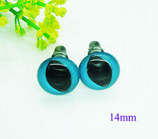 50pcs 14mm Blue Safety Eyes For Cat,Dragon,Frog  Doll Animal Puppet Making