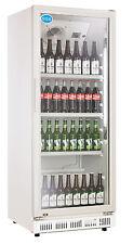 AG Gastro Kühlschrank Flaschenkühlschrank Glastür 310 Liter 620x635x1562mm weiß