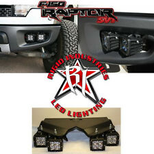 Rigid Industries Ford F150 RAPTOR Fog Dually LED Light Complete Kit- Amber/White