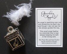 i Guardian Angel prayer box Feather CHARM watching over you comfort Ganz pendant